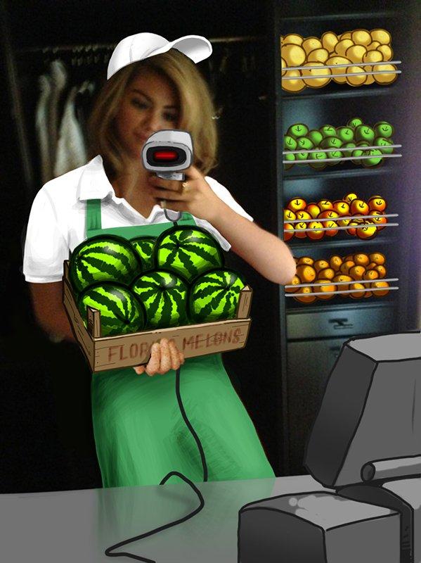 Artwork 'Kates Melons' by Cliff Deun – Wall Dizzy