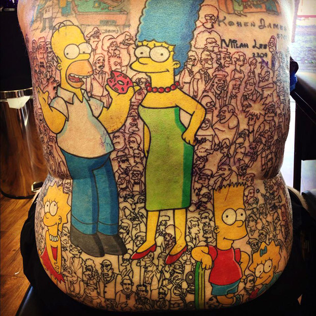 Most-tattoos-of-characters-from-a-single-animated-series-Michael-Baxter-guinness-world-records_tcm25-396424