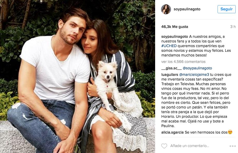 Paulina Goto confirma su relación