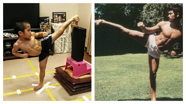 imitar a Bruce Lee