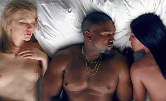 Taylor Swift con Kanye West