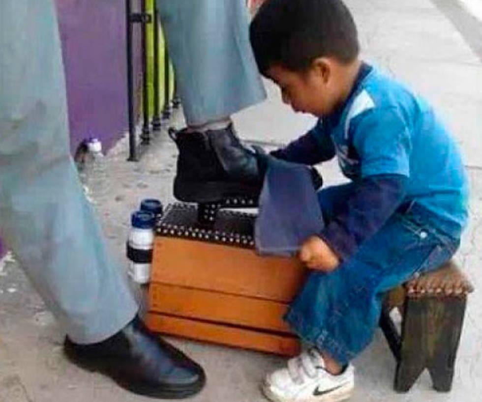 niño de 5 años trabajador
