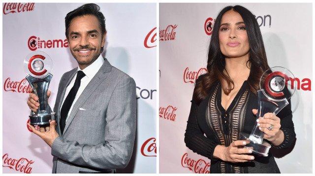 Salma Hayeck irrumpe a 'tortillazos' entrevista de Eugenio Derbez
