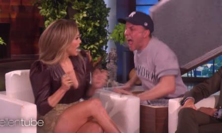 Ellen DeGeneres asusta a Jennifer Lopez