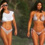Kim y Kourtney Kardashian festejan en Punta Mita