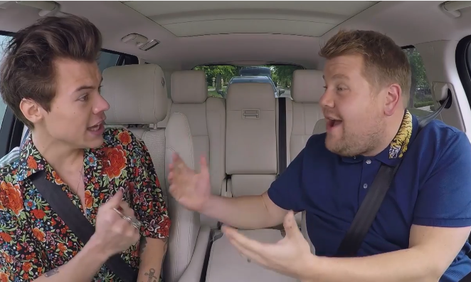 Harry Styles protagoniza el regreso del Carpool Karaoke con James Corden