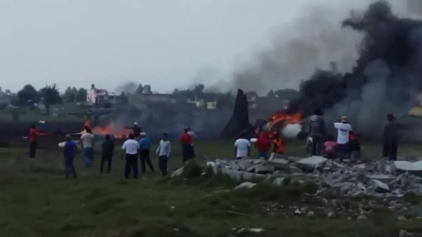 Se estrella aeronave en el Aeropuerto de Toluca