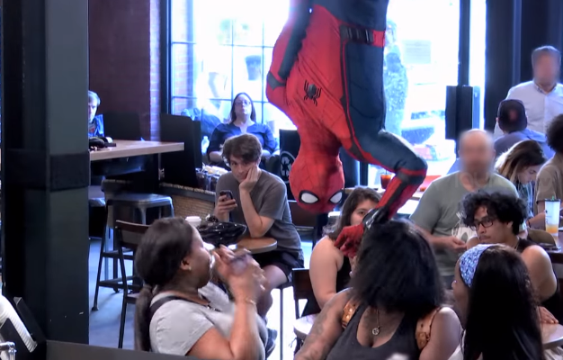 Spider-man Starbucks