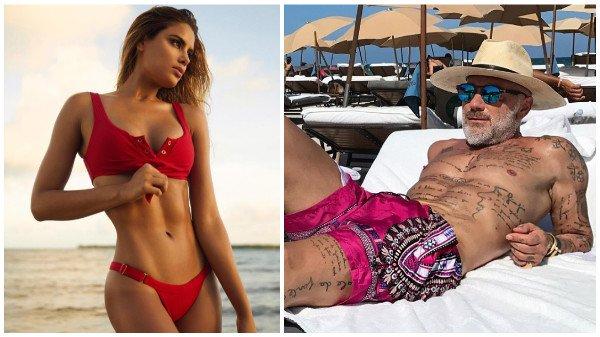 Gianluca Vacchi se relaja con una chica antes de Premios Juventud