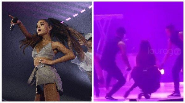 Ariana Grande caída