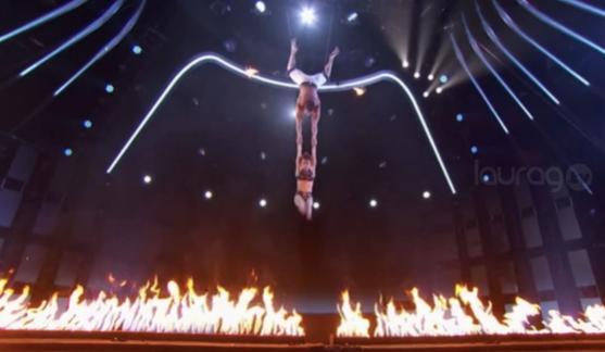 La dramática caída de una trapecista en America´s Got Talent